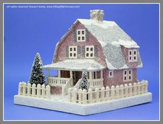 a Howard Lamey red dutch colonial putz house by mcudeque, via Flickr