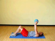 Today's Exercise: Medicine Ball Crunches