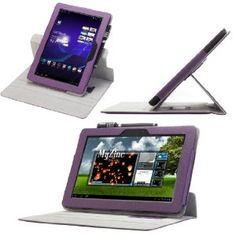 MoKo(TM) 360 Degree Rotating Cover Case for Asus Transformer Pad TF300 PURPLE