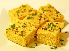 Microwave Nylon Khaman Dhokla a delicious snack from the region of Gujarat