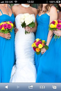 Rainbow Bright Wedding Flowers