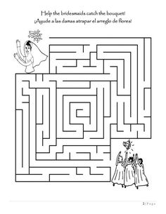 Children's Activity Books (bilingual) :  wedding Kids Wedding Activity Book Page 02