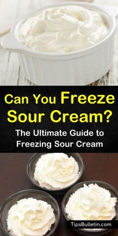 Can You Freeze Sour Cream? - The Ultimate Guide to Freezing Sour Cream - - How can you freeze sour cream? This guide points you in the right direction, and leaves you with a tasty recipe to break in your frozen sour cream! Sour Cream Dip, Sour Cream Coffee Cake, Freezing Cream Cheese, Freezing Milk, Freezing Fruit, Homemade Sour Cream, Freezer Cooking, Cooking Tips, Frozen Meals