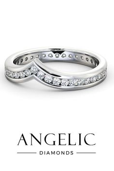 Looking for a beautiful stack diamond eternity ring you can wear with your wedding ring and engagement ring? This white gold diamond eternity ring is perfect for stacking.