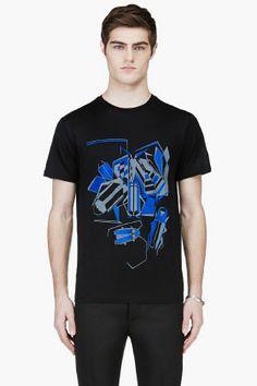 Lanvin Black Beetle Graphic T-shirt for men  5110bb70011f5