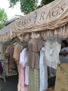 Paris Rags ~ Kimberly Ryan's tent.... I have quite a few of her pieces..everything is gorgeous!  www.parisrags.com