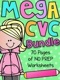 Mega CVC Worksheet Pack - Pre-K Kindergarten - Distance Learning Cvc Worksheets, Reading Worksheets, Kindergarten Worksheets, Handwriting Worksheets, Silly Words, Rhyming Words, Short E Words, Educational Math Games, Class Activities