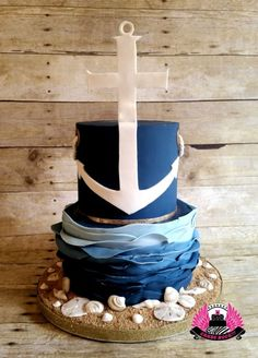 Nautical Themed Blessing Cake