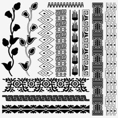 Egyptian patterns for stenciling