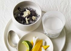 Black Sticky Rice with Coconut and Mango - MiNDFOODMiNDFOOD