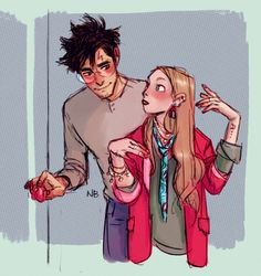 Harry Potter and Luna Lovegood Fanart Harry Potter, Harry Potter Drawings, Harry James Potter, Harry Potter Universal, Harry Potter Fandom, Harry Potter World, Harry Potter Memes, Hogwarts, Drarry