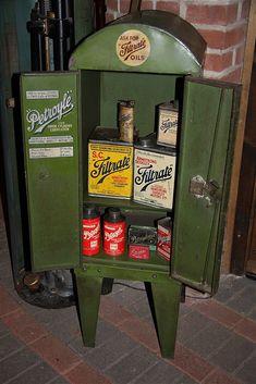 1930s Petroyle/ Filtrate oil cabinet