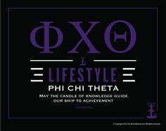 Phi Chi Theta Lifestyle Poster