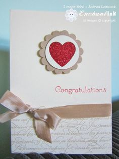 Handmade Anniversary Card ... Stampin' Up! - En Francais, Occasional Quotes ...  CASE - http://www.bhg.com/holidays/valentines-day/cards/handmade-valentines-cards/#page=11 ... EnchantINK