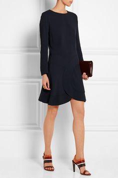 Chloé   Paneled crepe mini dress   NET-A-PORTER.COM