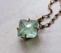 Large fluorite  necklace by SANKTOLEONOJEWELRY on Etsy