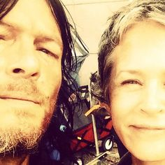 Norman Reedus and Melissa McBride or Daryl Dixon and Carol Peletier or just both... Like Caryl, Norissa... I'll just shut up.