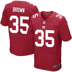 Mens Nike New York Giants #35 Andre Brown Elite Red Alternate NFL Jersey