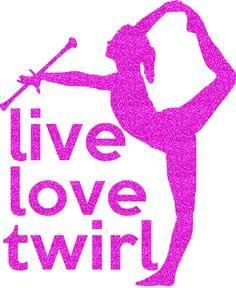 Live Love Twirl Transfer by GirlsLoveGlitter on Etsy