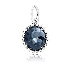 Pandora's sterling silver pendant with midnight blue crystal is so perfect for fall and winter