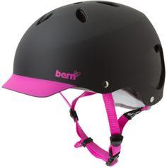 Black & magenta Bern helmet