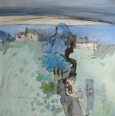 Farms and Barns, Yorkshire Dales, Norma Stephenson, pastel