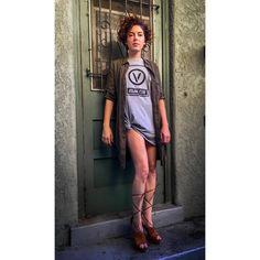 "T-shirt ""Vegan Club"" featuring Circle V Vegan Fashion, Shirt Dress, T Shirt, Organic Cotton, Club, Tees, Model, How To Make, Dresses"