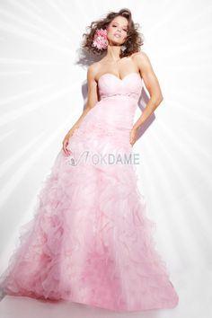 Herz-Ausschnitt Mitte Rücken tiefe Taile informelles flaumiges Quinceanera Kleid