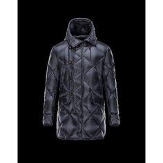 Moncler EDWIN Turtleneck Dark Blau Winterjacken Polyamide Herren 41456985ER