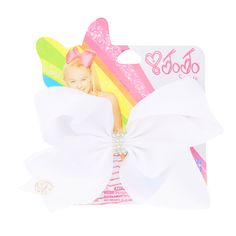Shop Claire's for the latest trends in jewelry & accessories for girls, teens, & tweens. Find must-have hair accessories, stylish beauty products & more. Jojo Siwa Bows, Jojo Bows, Claires Bows, School Hair Bows, White Hair Bows, Cute Notebooks, Cheer Bows, Little Girl Hairstyles, Big Bows