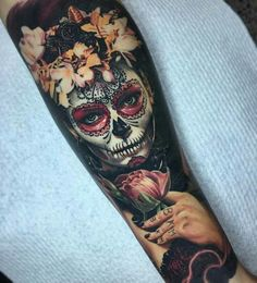 #fullyhealed shot of a day of the dead piece from a while ago. @inkjecta @killerinktattoo