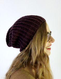 coco knit slouchy hat.  PERFECT PERFECT!  This is my favorite hat, made several different colors.  Used 7 and 10.5 cast on 62, since I cannot locate my 10 circular needles.  Cast on 68 if using 6 and 10.  bulky yarn.
