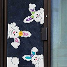 Easter Bunnies Window Clings/Stickers for Easter Games/ Egg Hunt/ Party Decoration 2018 4 pcs Easy Easter Crafts, Bunny Crafts, Easter Bunny, Easter Eggs, Easter Games, Pom Pom Crafts, Fun Activities For Kids, Egg Hunt, Paper Crafts