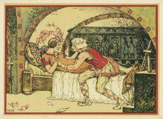 1743: Grimm, Brüder: Dornröschen (Sleeping Beauty illustration by Hanns Anker for The Brothers Grimm).