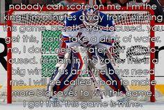 I am the King Hockey Goalie Equipment, Hockey Mom, Hockey Stuff, Nhl Wallpaper, La Kings Hockey, Goalie Gloves, Just A Game, Anti Stress, Way Of Life