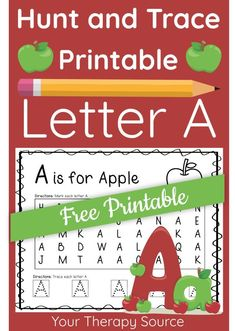 Alphabet Letter Hunt and Trace digital packet is a fun and engaging way to practice letter identification and letter sizing.  It includes the upper case Number Formation, Letter Identification, Printable Letters, Pre Writing, Learning Letters, Motor Activities, Lower Case Letters, Free Printables, Back To School