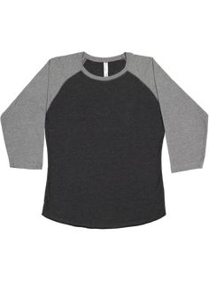 8c0086c7 Fine Jersey Crew Neck Raglan 3/4 Sleeve Baseball T-shirt for Women
