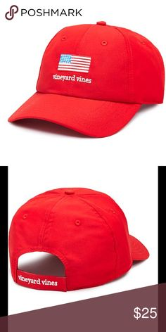 c16d9c22b7a New Red Vineyard Vines Performance Baseball Hat Hurray for the red
