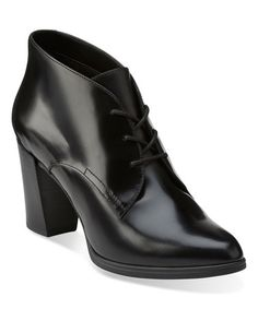 This Black Kadri Alexa Pointed-Toe Leather Bootie is perfect! #zulilyfinds