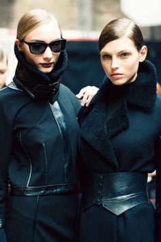 #DKNYFall2012 #Backstage  LOVE the coat on the right! Wish I had it RIGHT NOW for my trip to London tomorrow!!