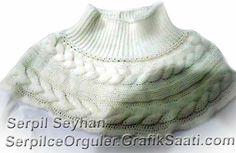 Yun orguden penye bluz ve yaka 35-1 Wool knitting cotton blouse and collar