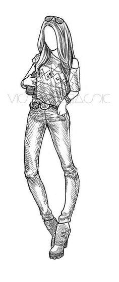 Art/Drawings/Sketches: Cheyenne No. 3 by Rachel Nhan Dress Sketches, Fashion Sketches, Drawing Sketches, Sketching, Fashion Drawings, Beautiful Drawings, Cute Drawings, Illustration Mode, Illustrations