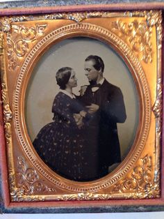 Daguerreotype Photo Portrait of A Couple in Love   eBay