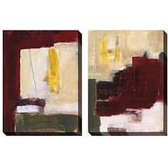 Jane Bellows 'Elevated Expression' Oversized Canvas Art Set