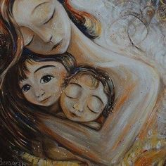 mother and child art - moments of motherhood captured in paint on canvas. Original art for sale, featuring mother and son, mother and daughter, family portraits and emotion. Tattoo Mutter, Canvas Prints, Art Prints, Second Child, Mother And Child, Mother Art, Mothers Love, Cuddling, Art For Kids