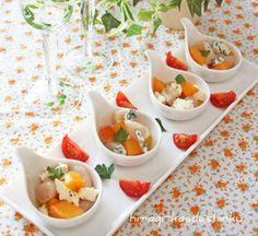 簡単おしゃれ前菜*ホタテ×柿×クリームチーズ(orブルーチーズ)、ワインみたいな日本酒|レシピブログ