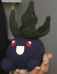"Oddish - Pokemon Character - Free Amigurumi Pattern - PDF Format - Click to ""download"" here: http://www.ravelry.com/patterns/library/amigurumi-pokemon-oddish"