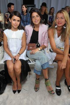 Miroslava Duma, Leandra Medine and Natalie Joos