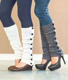 You know those skinny jeans you have, well team them up with your leg warmers and give them a totally new look .
