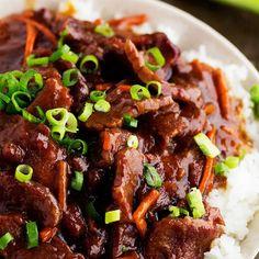 Slow Cooker Mongolian Beef Recipe   Yummly